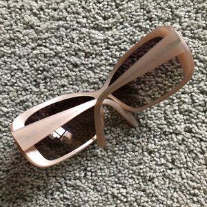 c7b4c3bde6702 Prada Accessories - PRADA Pearl White wide round eye sunglasses